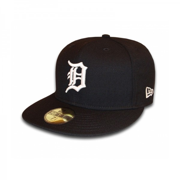 Detroit Tigers 59FIFTY MLB Basic exclusive Cap Black White
