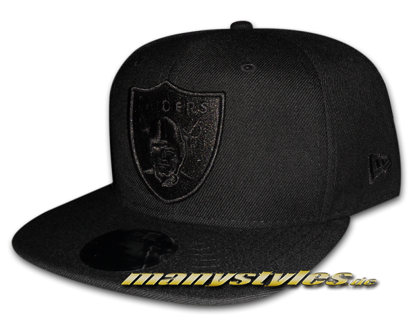 Oakland Raiders 9FIFTY NFL Original Fit exclusive Snapback Cap Black on Black