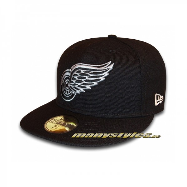 Detroit Red Wings 59FIFTY NHL Basic exclusive Cap Black White