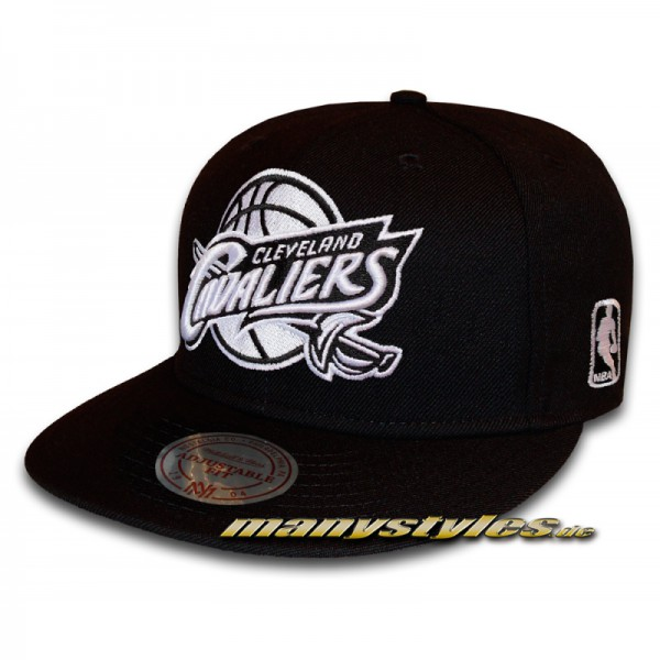 Cleveland Cavaliers 9FIFTY NBA Black and White Basic Series Snapback Cap