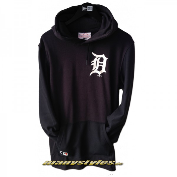 Detroit Tigers MLB RMX PO Hooded Sweater Dark Navy White Team Color