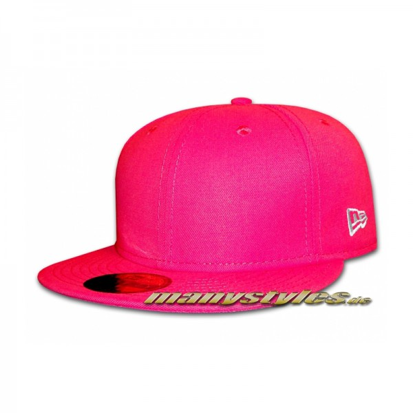 Blank NE Originals Cap Bright Rose Pink plain without front und back Logo
