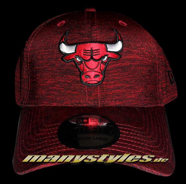 Chicago Bulls NBA Stretch Space Dye Curved Visor Flex Fit Cap in Team Color von New Era