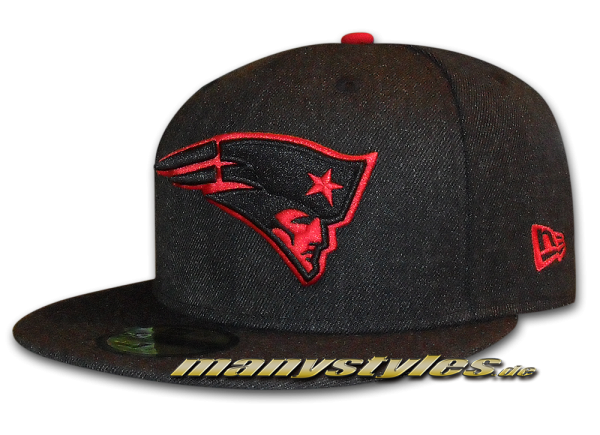 New England Patriots 59FIFTY NFL Heather Team Exclusive Cap Heather Black Scarlet Red