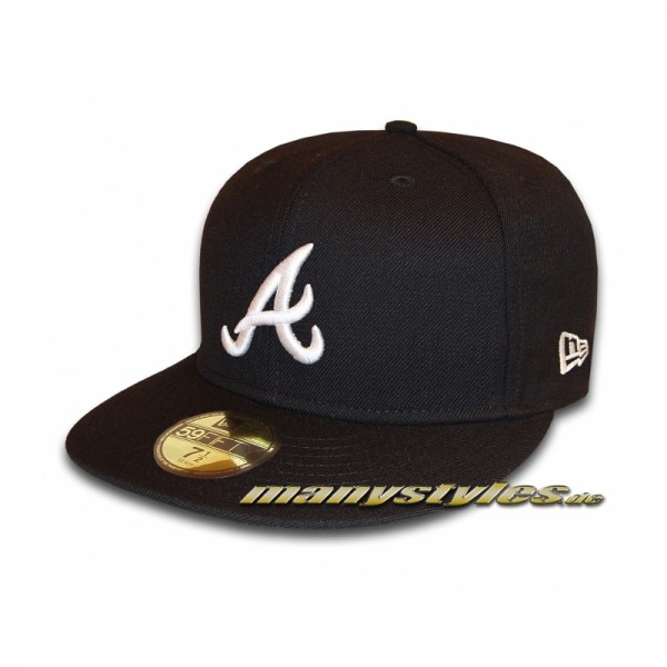 ATLANTA BRAVES New Era MLB Basic Cap Black White 59FIFTY