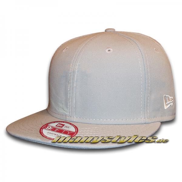 NE Originals Blank Snapback Cap Grey Plain without Logo