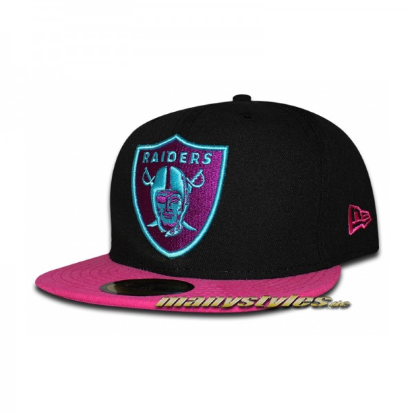 Oakland Raiders 59FIFTY NFL Neon Crown Cap