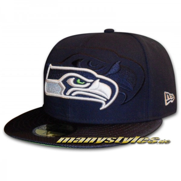 Seattle Seahawks 59FIFTY NFL on field Sideline Cap Game