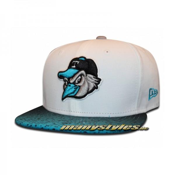 Toledo Mud Hens 59FIFTY Grada Hook Cap White Blue Minor League Baseball-Copy