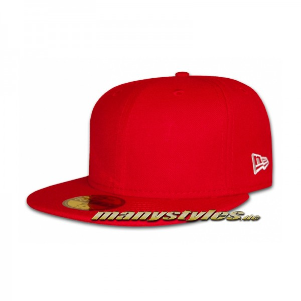 Blank New Era 59FIFTY Cap Scarlet Red - Clean Plain Caps without Logo