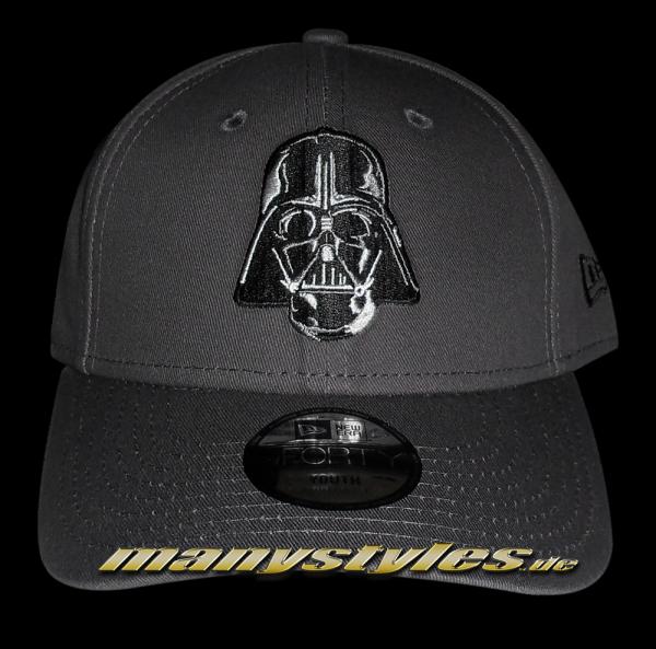 Star Wars Licensed Darth Vader 9FOURTY Youth Adjustable Curved Visor Cap Kids Graphite Black von New Era