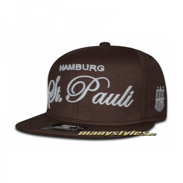 St. PAULI Brown White manystyles exclusive Snapback Cap