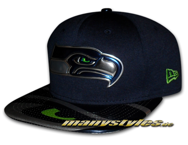 Seattle Seahawks 9FIFTY NFL 2017 on field Draft Snapback Cap