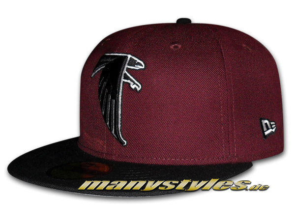Atlanta Falcons 59FIFTY NFL Basic Exclusive Cap Classic Logo Maroon Black