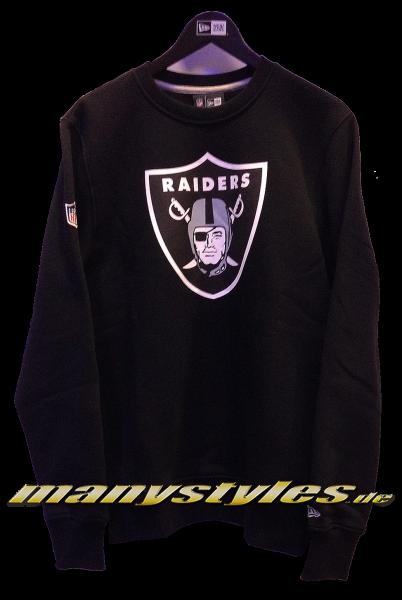 Oakland Raiders NFL Team Crewneck Sweater Black Team Color