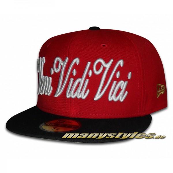 Veni Vidi Vici 59FIFTY Special Cap Scarlet Red Black White exclusive Cap