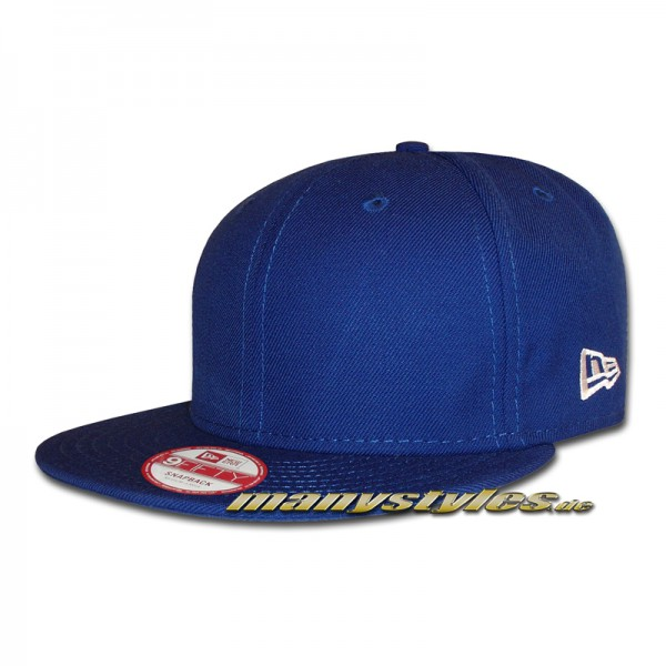 NE Originals Blank 9FIFTY Snapback Cap Royal Clean without Logo