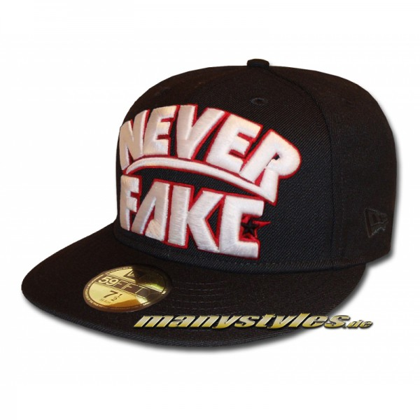 Unlicensed Cap Never Fake Black White Red exclusive-Copy