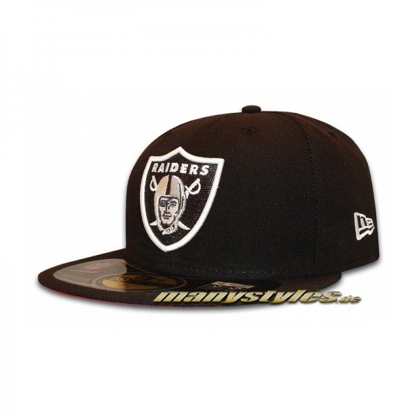 Oakland Raiders official NFL on field New Era Cap Game Black