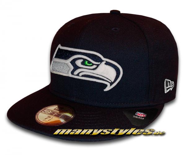 Seattle Seahawks 59FIFTY NFL GITD (Glow in the Dark) Navy White Cap von New Era