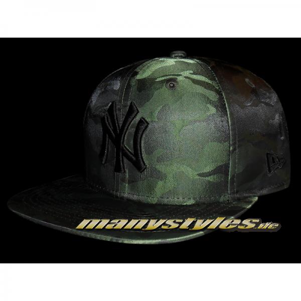 NY Yankees 9FIFTY Nylon Camo Woodland Camouflage Snapback