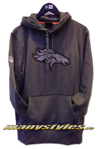 Denver Broncos NFL Two Tone Hoody Charcoal Heather Graphite Grey von New Era