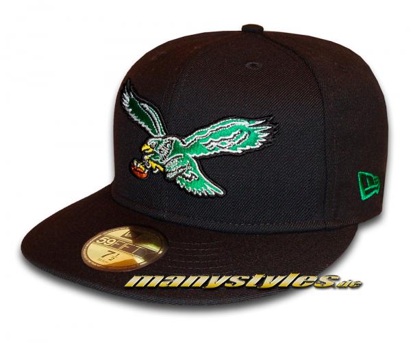 Philadelphia Eagles 59FIFTY NFL Basic Classic Logo exclusive Cap Black Green