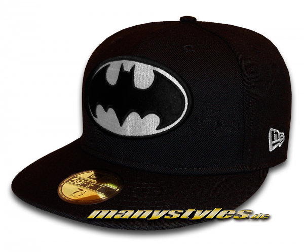 Batman DC Comic GITD (Glow in the Dark) 59Fifty Black White Cap