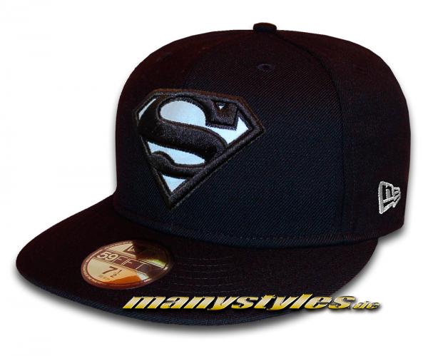 Superman 59FIFTY DC Comic GITD (Glow in the Dark) Navy White Cap