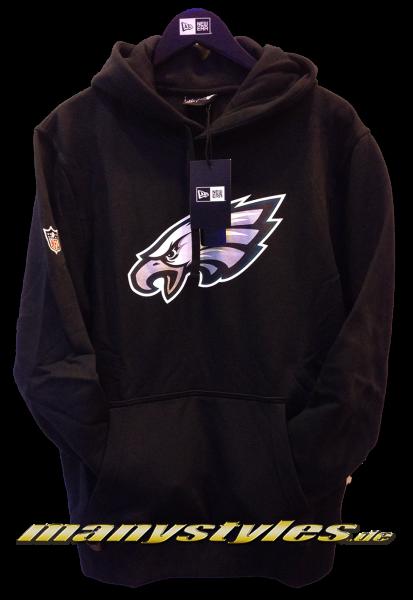 Philladelphia Eagles NFL Team Logo PO Hood Hooded Black Team Color von New Era