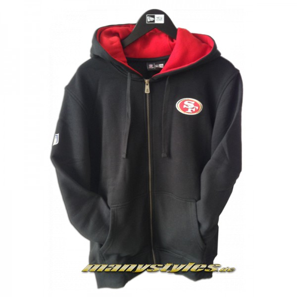 San Francisco 49ers NFL Full Zip Hooded Sweater Official Team Color
