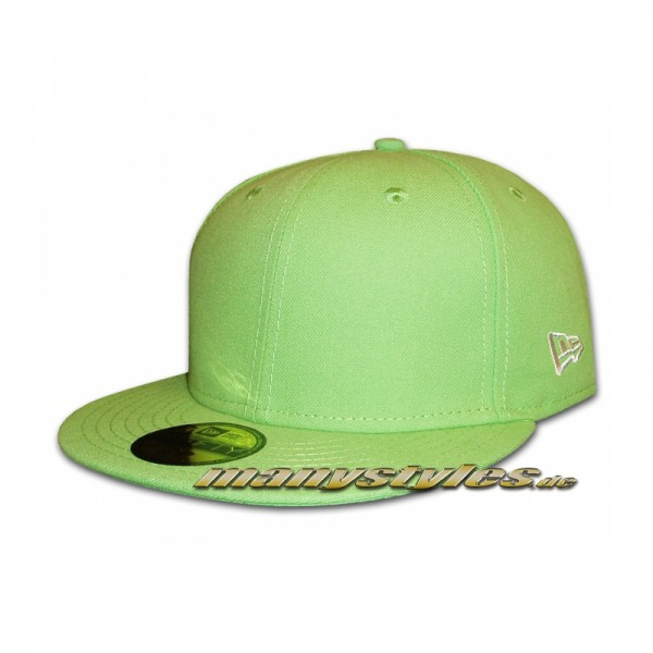 Blank New Era NE Originals Cap without Logo - Lime Green