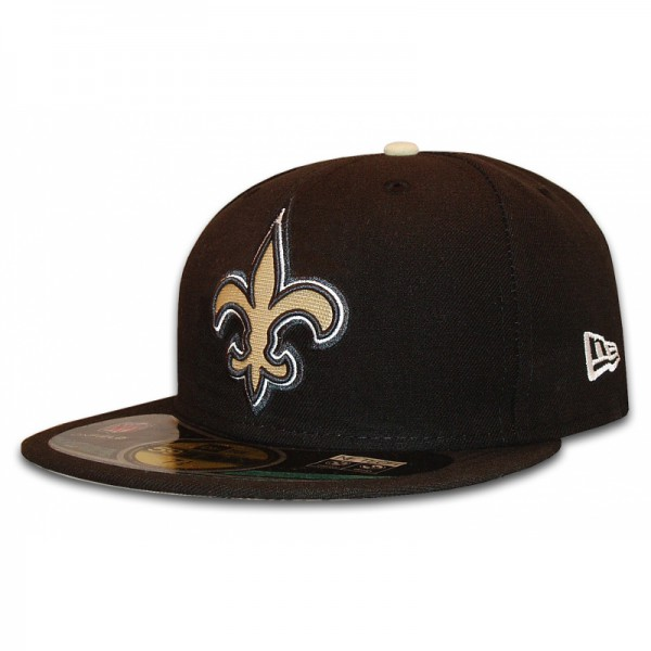 New Orleans Saints 59Fifty NFL Authentic Cap Black Team