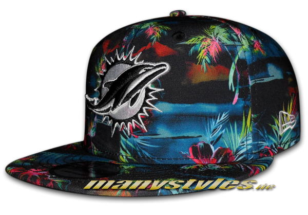 Miami Dolphins NFL 9FIFTY exclusive Dark Floral Snapback Cap von New Era