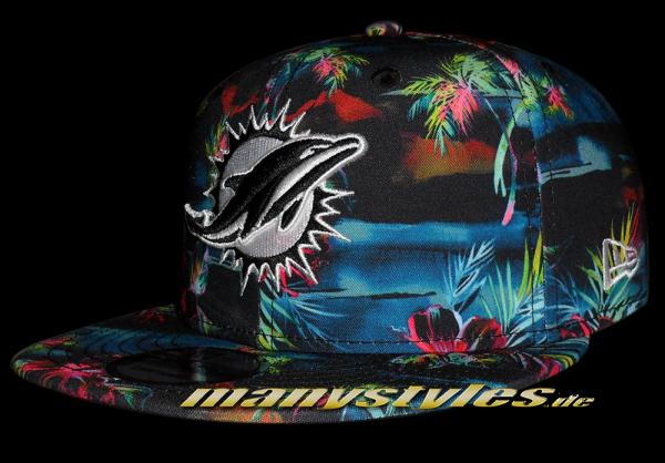 Miami Dolphins NFL 9FIFTY exclusive Dark Floral Snapback Cap von New Era