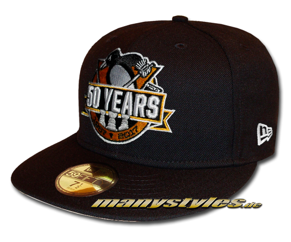 50 Years Pittsburgh Penguins Edition NHL 59FIFTY Cap Black Team Color von New Era
