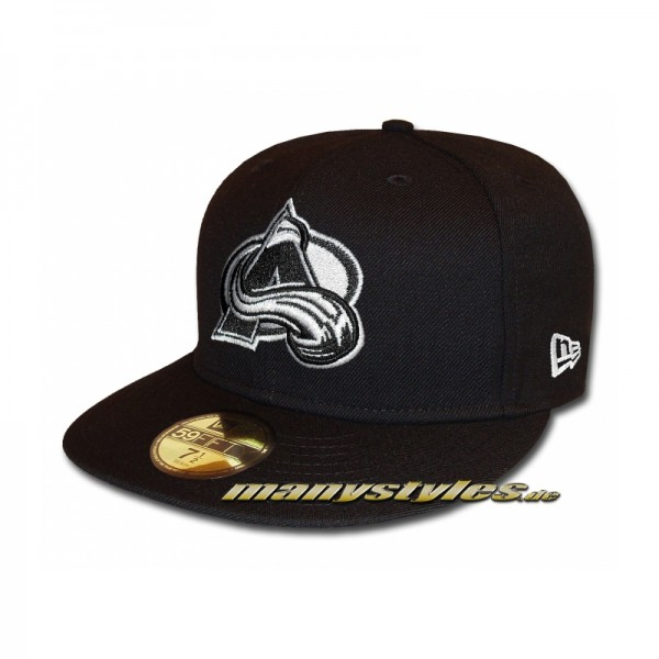 Colorado Avalanche 59FIFTY NHL Basic Cap Black White exclusive