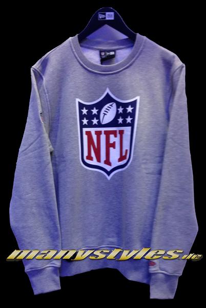 NFL Shield 59FIFTY Team Logo Crewneck Sweater Heather Grey