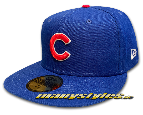 Chicago Cubs MLB 59FIFTY Authentic NE Team Structure Cap in Royal Red White OTC von New Era