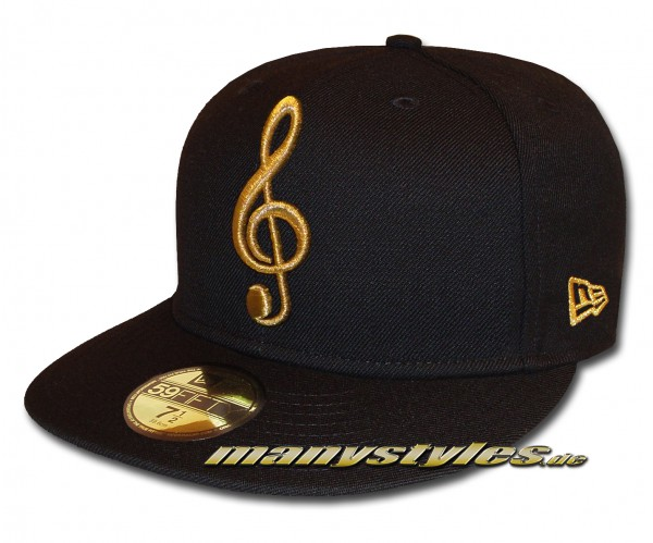 New Era Unlicensed Cap Music Note Black Metallic Gold exclusive