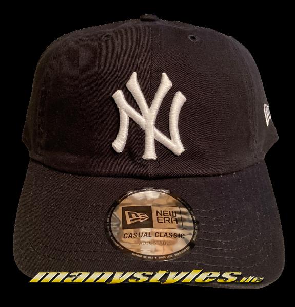 NY Yankees MLB Casual Classic Curved Visor Adjustable Dead Cap Black White von New Era