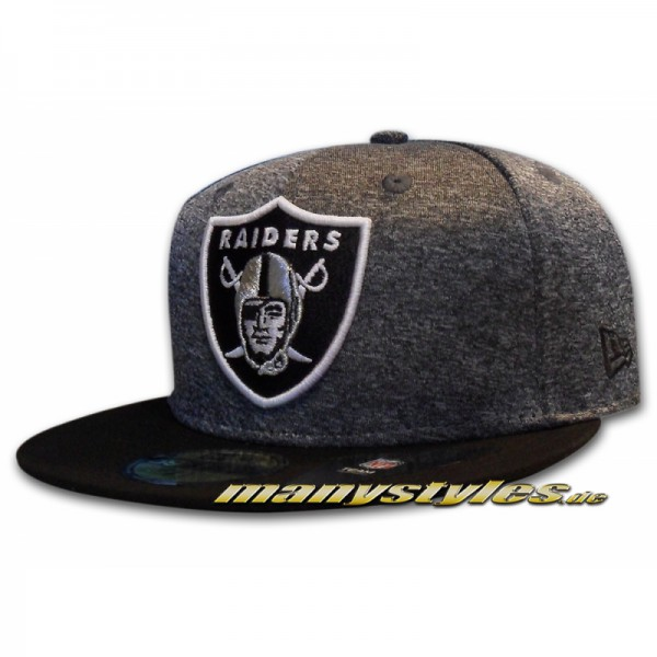 Oakland Raiders 59FIFTY NFL Jersey Marl Cap Heather Graphite