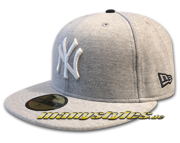 NY Yankees MLB 59FIFTY Felize Navidad Cap Heather Grey White von New Era
