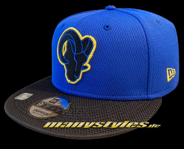 Los Angeles Rams 9FIFTY NFL21 SL RD 950 Snapback Cap OTC Sideline 2021 von New Era