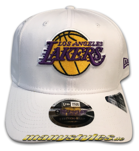 LA Lakers NBA 9FIFTY Stretch Fit Snapback Cap White