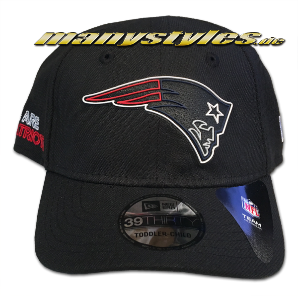New England Patriots NFL 2020 Draft 39THIRTY Stretch Cap Kids Black OTC von New Era