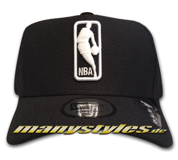 NBA Logo 9FIFTY NBA Black Base Diamond Era Curved Visor Snapback Cap Black White von New Era