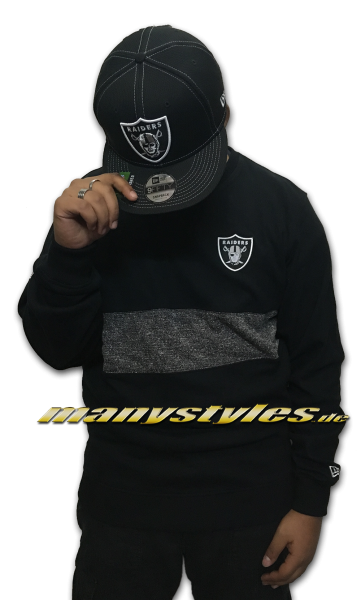 Las Vegas Raiders noch Oakland Raiders NFL Team Apparel Concrete Crew Crewneck Sweatshirt Black Team Color OTC von New Era