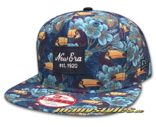 Tropical 9fifty New Era Snapback Cap Tucan Navy Multi Color frontside