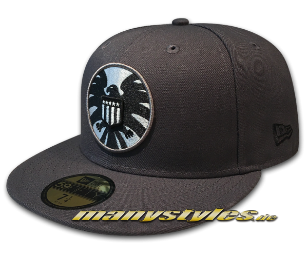 Marvel Comic S.H.I.E.L.D. Logo Avengers 59FIFTY Fitted Cap Grey Black exclusive Cap